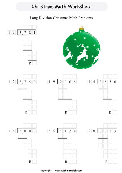 free printable christmas division worksheets free christmas long division worksheets worksheets on