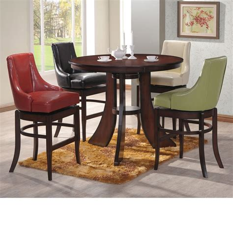 dreamfurniture vinson bar height dining table set