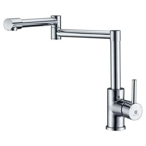 shop giagni contemporary polished chrome 1 handle pot pot filler chrome faucets price compare