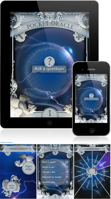 the pocket oracle and interface design for iphone and ipad application pocket oracle