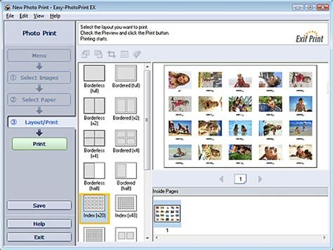 layout canon easy photo print canon knowledge base printing an index of photos in easy