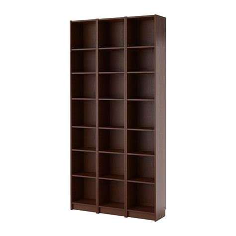 ikea billy bookcase medium brown narrow shelves