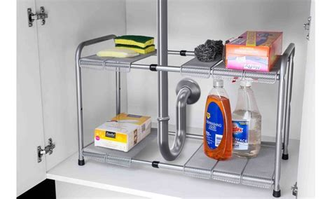 expandable sink organizer home basics 2 tier expandable the sink organizer