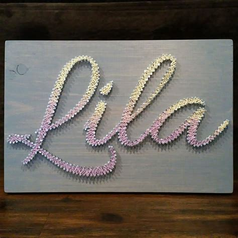 With Nails And String - custom made nail and string name plaques string