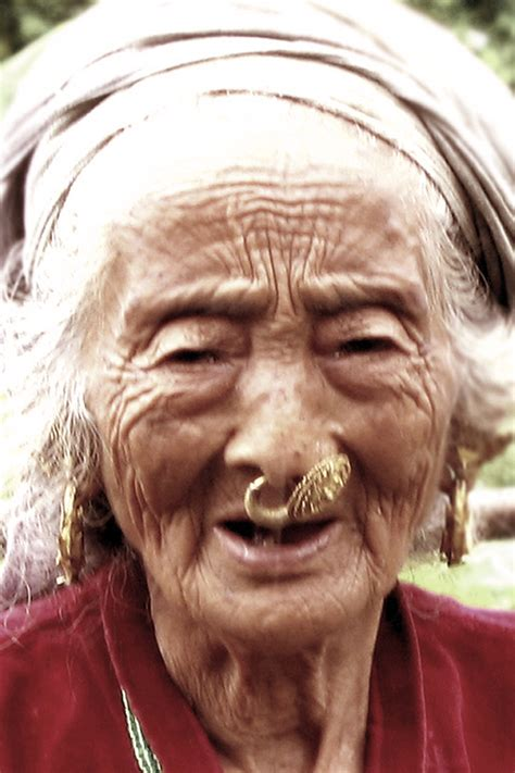nose rings older women file elderly limbu woman with nose piercing nepal 2006
