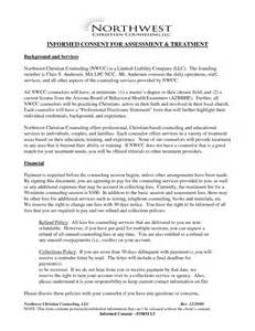 Counselling Consent Form Template by 12 Best Images Of Informed Consent Printable Counseling