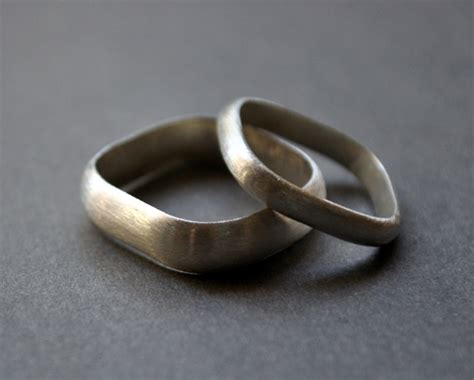 Handmade Silver Wedding Rings - handmade wedding rings from epheriell polka dot