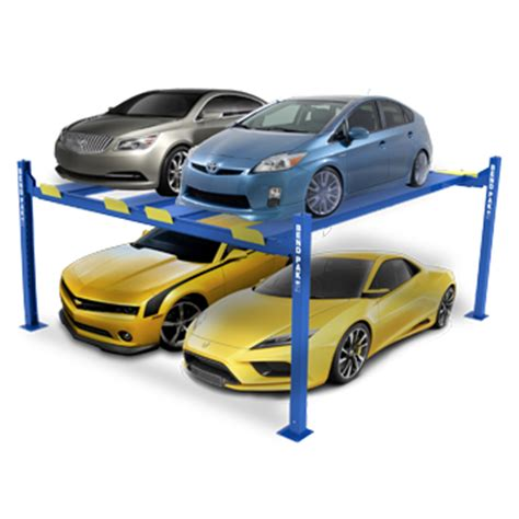 Bendpak hd 9sw four post car stacker parking lift 9 000 lb capacity