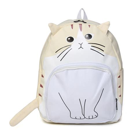 cat backpack canvas cat backpack rucksack school
