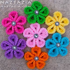 free patterns and on flower hair crochet kanzashi flower flowers by donna wolfe from naztazia