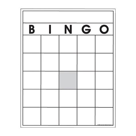 empty bingo card template blank bingo cards sports outdoors