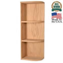 Wall end shelf 30 quot unfinished alder kitchen cabinet