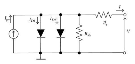 diode electric circuit sketches of the 1 diode 2 resistor electric circuit model a and