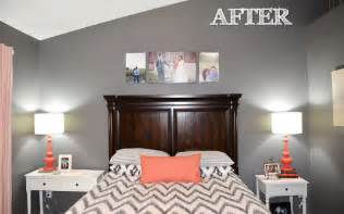 Gray And Coral Bedroom Ideas - jessica stout design coral gray master bedroom my home