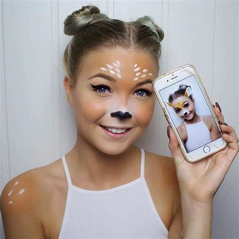 deer snapchat filter halloween makeup