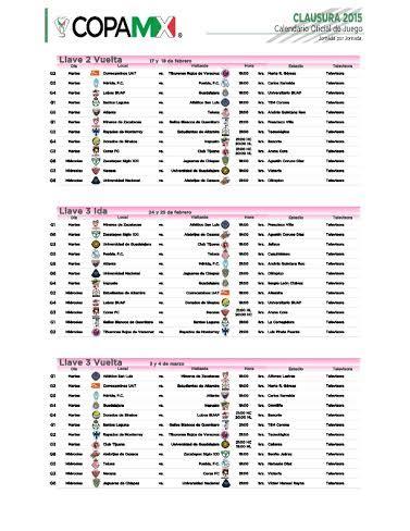 Calendario Copa Mx 2015 Copa Mx Semifinales 2016 Calendar Calendar Template 2016