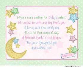 thank you notes baby shower twinkle twinkle