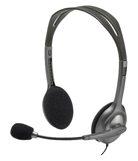 Headset Logitech H111 buy logitech h111 on ear headset with mic black at best price in india snapdeal