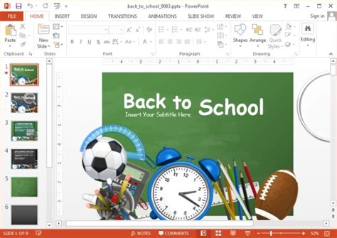 Animated School Powerpoint Templates Powerpoint Presentation Back To School Powerpoint Template