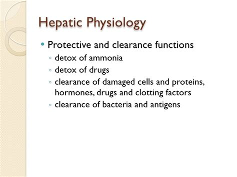 Ammonia Detox Problems by Hepatic Disease Keynote