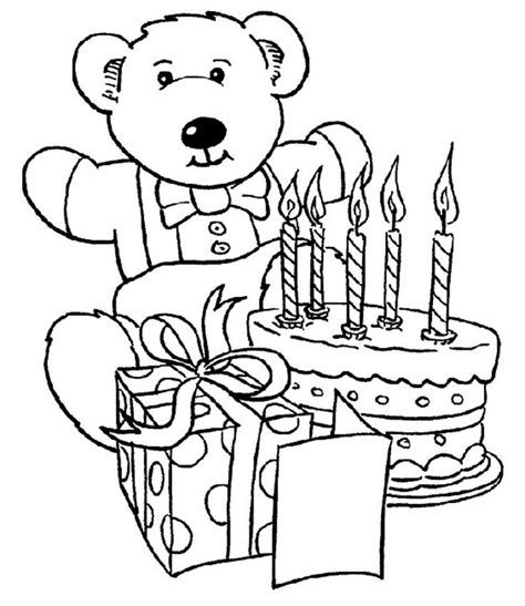 happy birthday bear coloring pages 62 best teddy bears images on pinterest kids net teddy