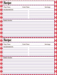 Recipe Template Set Labels Template Create And Recipes Recipe Label Templates