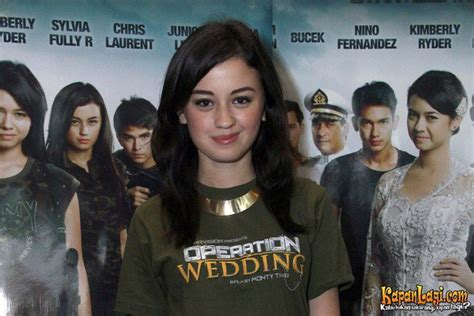 bintang film operation wedding kimberly ryder di preskon film operation wedding