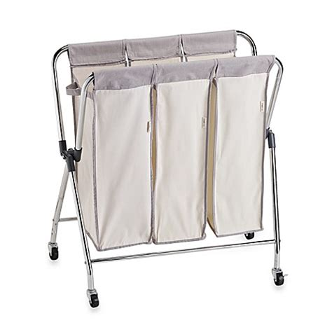 Real Simple 174 Triple Laundry Sorter Bed Bath Beyond Bed Bath And Beyond Laundry