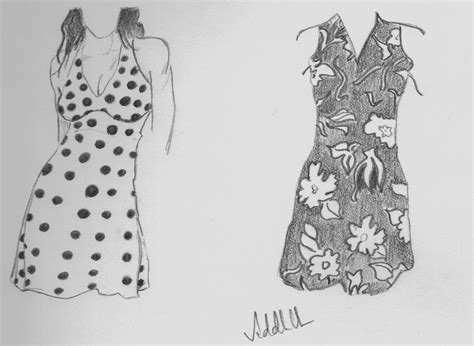 pencil sketch of dress light and shade