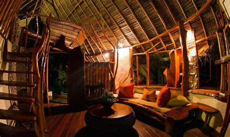 interior bungalow ninamu resort atoll of tikehau polynesia tahiti