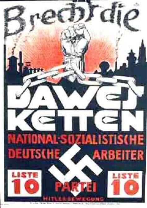 wann war der nationalsozialismus was sagt dieses wahlplakat aus geschichte weimarer