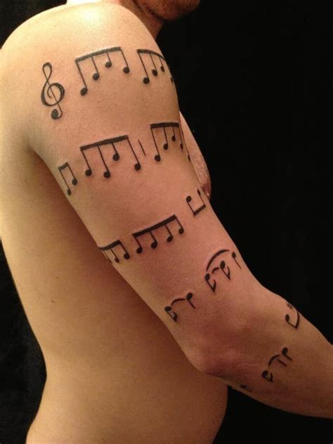 tattoo arm note charming music note sleeve tattoo creativefan