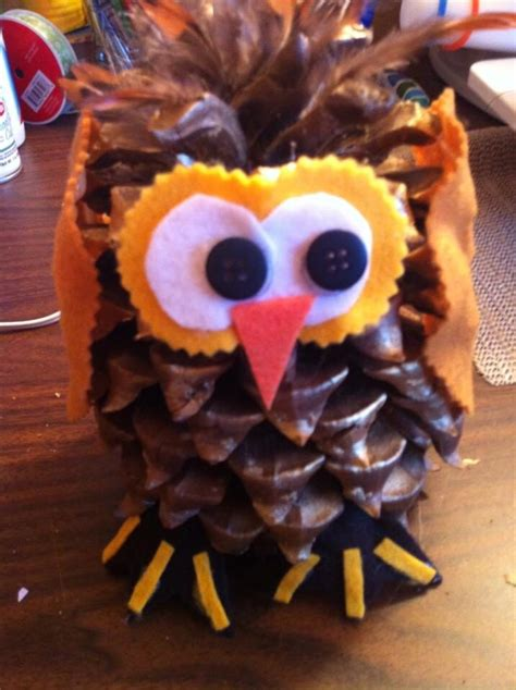 owl creations from pine cones and fluff pine cone owl april s crafts pine owl and pine cones