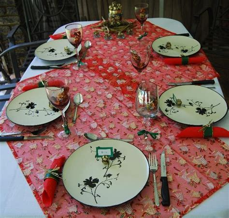 naturally me creations christmas lunch table decor part 2