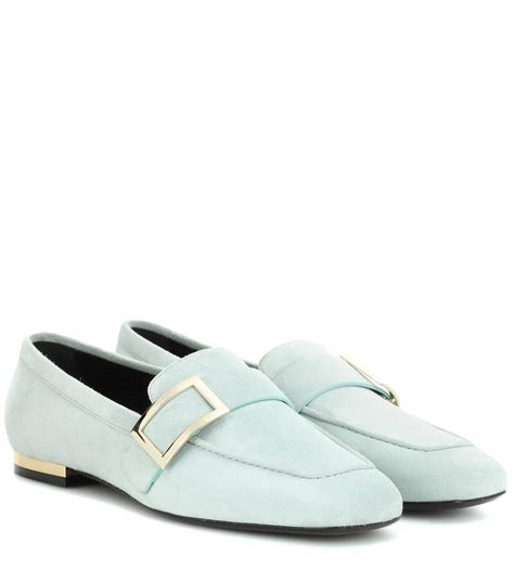 Metal Buckle Loafers roger vivier suede metal buckle loafer outlet cheap