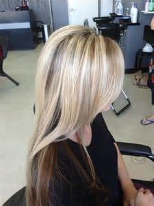 lowlight placement in bleached blond hair hair by caressa hair nail station riverbank ca yelp