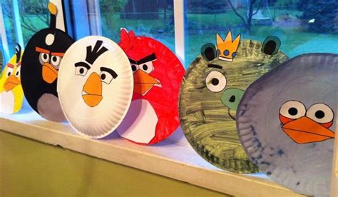 Angry Bird Paper Plate Craft - paper plate angry birds all about arts crafts