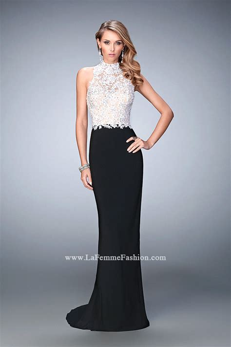 design dress black and white la femme 21837 prom dress prom gown 21837