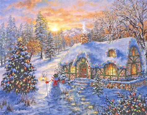 winter cottage cottage winter nature background wallpapers