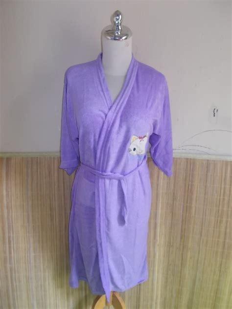 Jubah Anak Dan Dewasa kimono handuk jubah mandi dewasa jumbo ungu jual baju