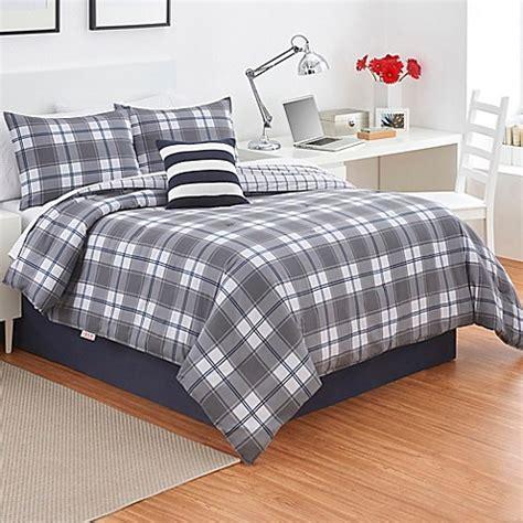 gray plaid comforter izod 174 fairfax plaid comforter set in grey bed bath beyond
