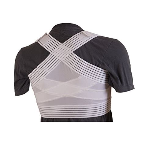 Shoulder Support Compression Top L S Embio Lp 230 Z duro med posture corrector white x large import it all