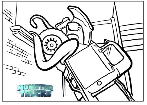 grinder monster truck coloring pages coloring pages