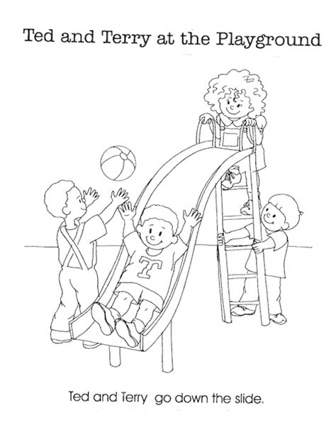 35 playground coloring pages coloring playground sign