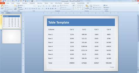 format excel table in powerpoint how to transpose a table in powerpoint powerpoint