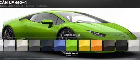Lamborghini Configure Lamborghini Launches Hurac 225 N Lp 610 4 Configurator