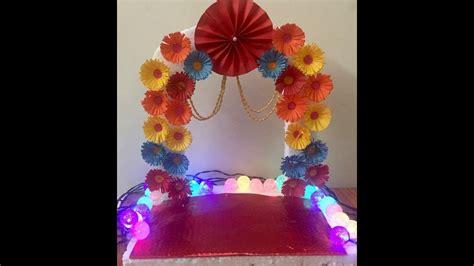 ganapati makhar  homeganesh pooja decorationganpati