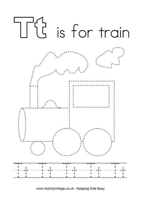 printable preschool train activities tracing alphabet t smart kids printables