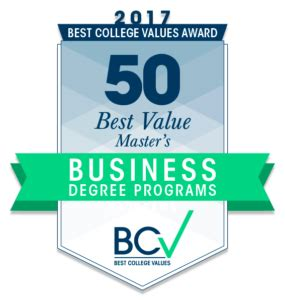 Best Mba School Value by 50 Best Value Master S In Business Degrees 2017 Best