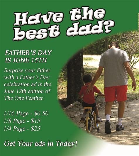fathers day ad place your s day ads now the one feather